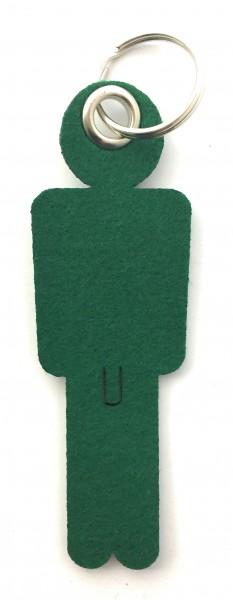 Mann / His - Filz-Schlüsselanhänger - Farbe: waldgrün - optional mit Gravur / Aufdruck