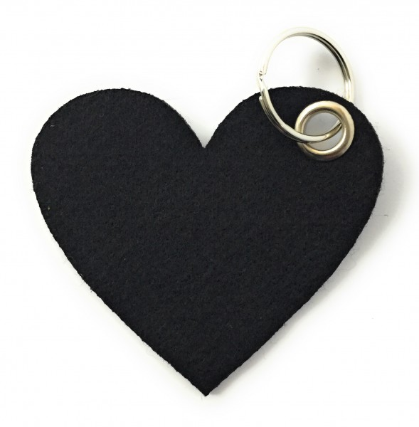 Herz / Liebe /groß - Filz-Schlüsselanhänger - Farbe: schwarz - optional mit Gravur / Aufdruck