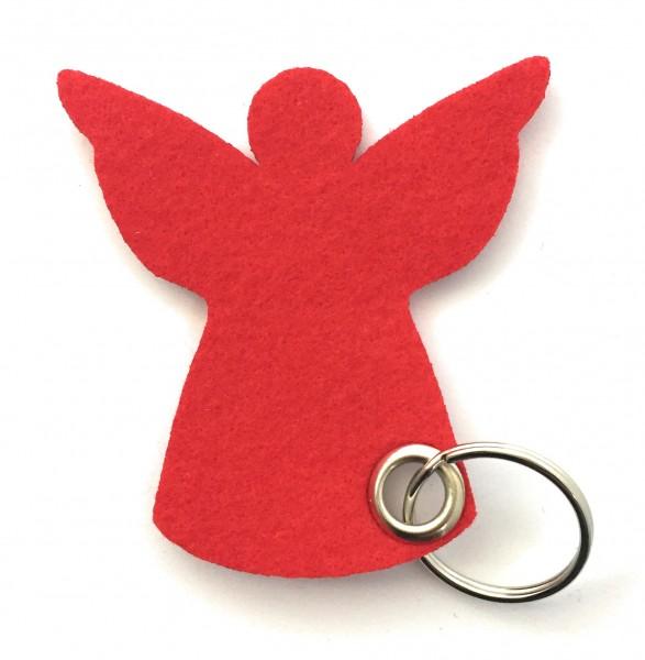 Engel / Weihnachten - Filz-Schlüsselanhänger - Farbe: rot - optional mit Gravur / Aufdruck