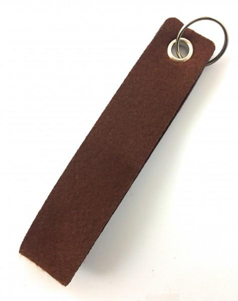 Schlaufe maxi - Filz-Schlüsselanhänger - Farbe: braun - optional mit Gravur / Aufdruck