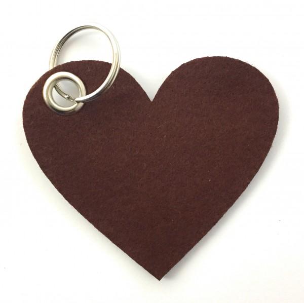Herz / Liebe /groß - Filz-Schlüsselanhänger - Farbe: braun - optional mit Gravur / Aufdruck