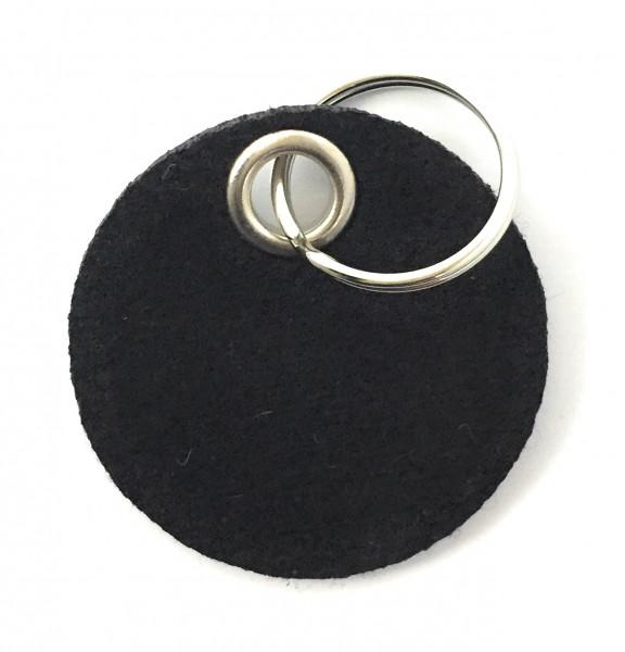 Kreis / Scheibe / Rund - Filz-Schlüsselanhänger - Farbe: schwarz - optional mit Gravur / Aufdruck