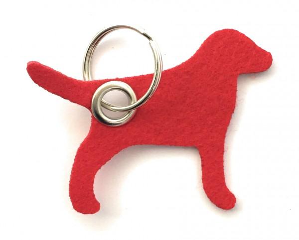 Hund / Tier - Filz-Schlüsselanhänger - Farbe: rot - optional mit Gravur / Aufdruck
