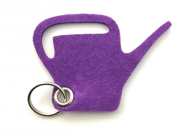 Giess-Kanne - Filz-Schlüsselanhänger - Farbe: lila / flieder - optional mit Gravur / Aufdruck