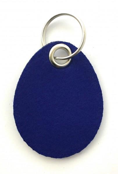 Ei / Ostern - Filz-Schlüsselanhänger - Farbe: royalblau - optional mit Gravur / Aufdruck