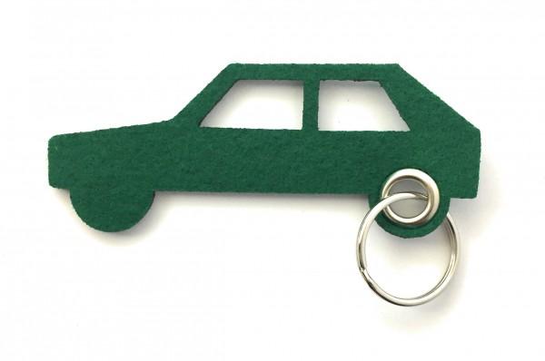 Auto - retro - Filz-Schlüsselanhänger - Farbe: waldgrün - optional mit Gravur / Aufdruck