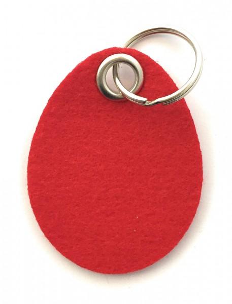 Ei / Ostern - Filz-Schlüsselanhänger - Farbe: rot - optional mit Gravur / Aufdruck