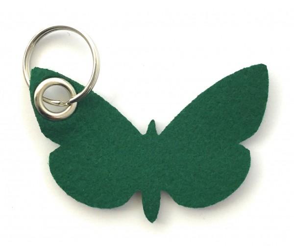 Schmetterling - Filz-Schlüsselanhänger - Farbe: waldgrün - optional mit Gravur / Aufdruck