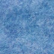 Filzzuschnitt - Farbe: Blau meliert - ca. 4mm, ca. 600 g/m² Schadstoffgeprüft nach EN71 - 100% Polye