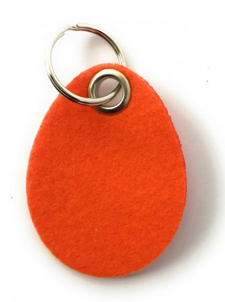 Ei / Ostern - Filz-Schlüsselanhänger - Farbe: orange - optional mit Gravur / Aufdruck