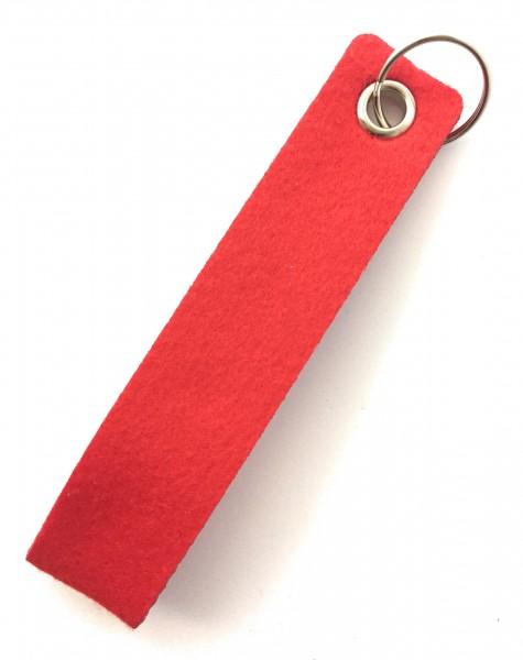 Schlaufe maxi - Filz-Schlüsselanhänger - Farbe: rot - optional mit Gravur / Aufdruck