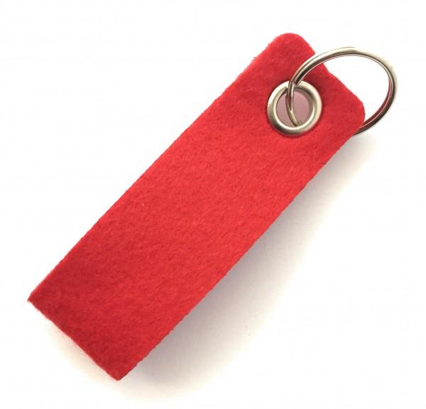 Schlaufe mini - Filz-Schlüsselanhänger - Farbe: rot - optional mit Gravur / Aufdruck