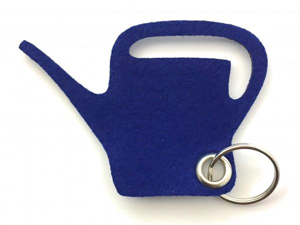 Giess-Kanne - Filz-Schlüsselanhänger - Farbe: royalblau - optional mit Gravur / Aufdruck