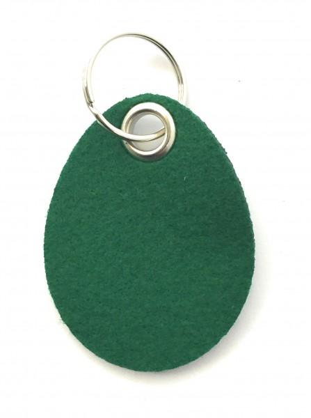 Ei / Ostern - Filz-Schlüsselanhänger - Farbe: waldgrün - optional mit Gravur / Aufdruck