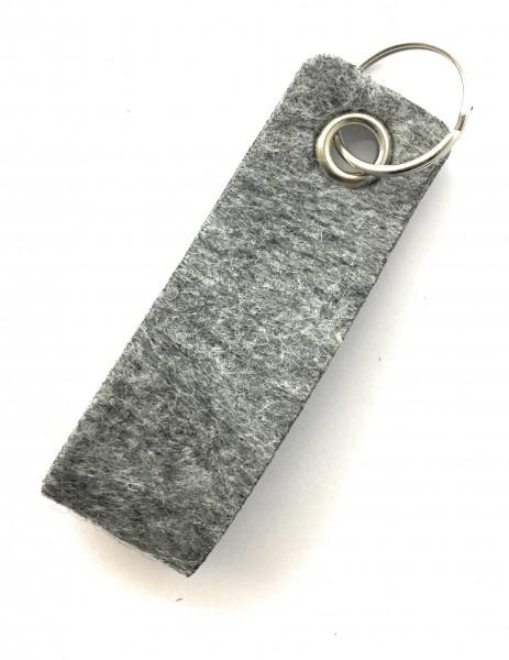 Schlaufe mini - Filz-Schlüsselanhänger - Farbe: grau meliert - optional mit Gravur / Aufdruck