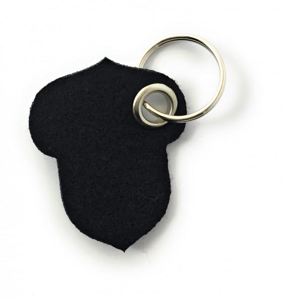 Hasel-Nuss - Filz-Schlüsselanhänger - Farbe: schwarz - optional mit Gravur / Aufdruck