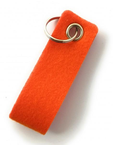 Schlaufe mini - Filz-Schlüsselanhänger - Farbe: orange - optional mit Gravur / Aufdruck