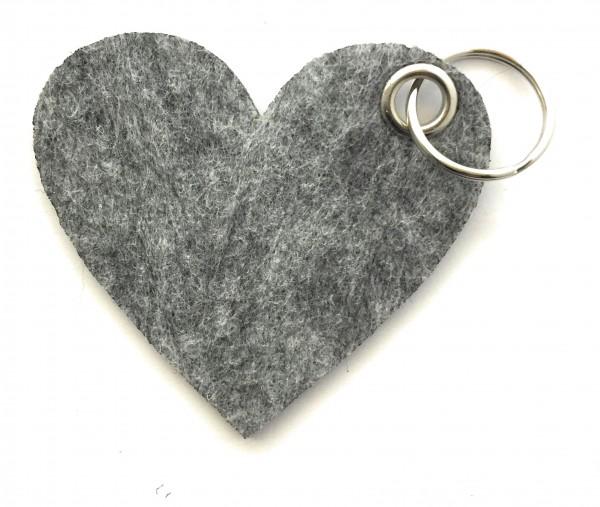Herz / Liebe /groß - Filz-Schlüsselanhänger - Farbe: grau meliert - optional mit Gravur / Aufdruck