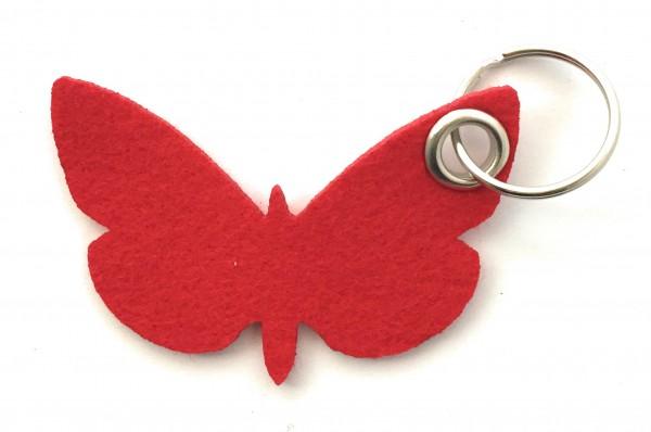 Schmetterling - Filz-Schlüsselanhänger - Farbe: rot - optional mit Gravur / Aufdruck