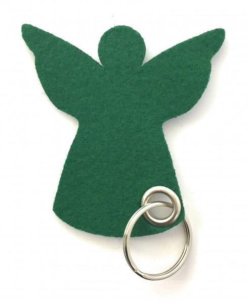 Engel / Weihnachten - Filz-Schlüsselanhänger - Farbe: waldgrün - optional mit Gravur / Aufdruck