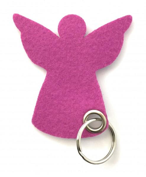 Engel / Weihnachten - Filz-Schlüsselanhänger - Farbe: magenta - optional mit Gravur / Aufdruck