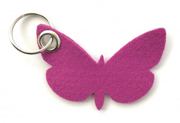 Schmetterling - Filz-Schlüsselanhänger - Farbe: magenta - optional mit Gravur / Aufdruck