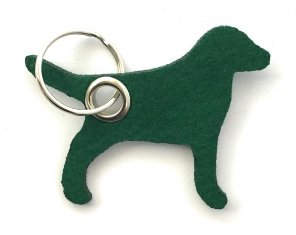 Hund / Tier - Filz-Schlüsselanhänger - Farbe: waldgrün - optional mit Gravur / Aufdruck