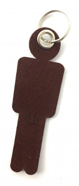 Mann / His - Filz-Schlüsselanhänger - Farbe: braun - optional mit Gravur / Aufdruck