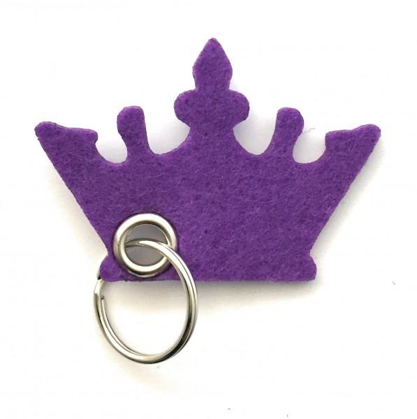 Krone - Filz-Schlüsselanhänger - Farbe: lila / flieder - optional mit Gravur / Aufdruck