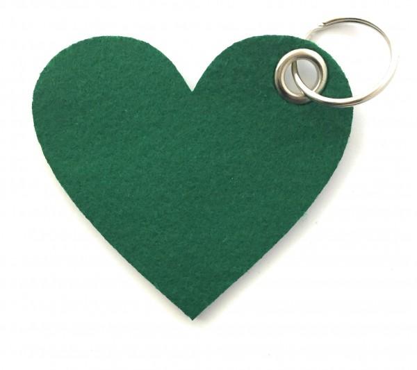 Herz / Liebe /groß - Filz-Schlüsselanhänger - Farbe: waldgrün - optional mit Gravur / Aufdruck