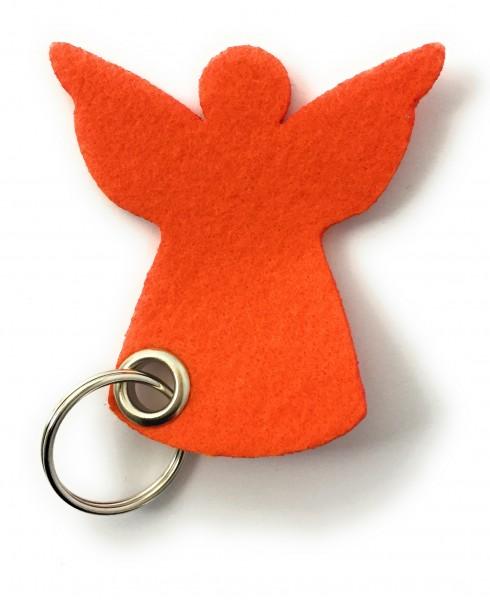 Engel / Weihnachten - Filz-Schlüsselanhänger - Farbe: orange - optional mit Gravur / Aufdruck