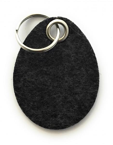 Ei / Ostern - Filz-Schlüsselanhänger - Farbe: schwarz meliert - optional mit Gravur / Aufdruck