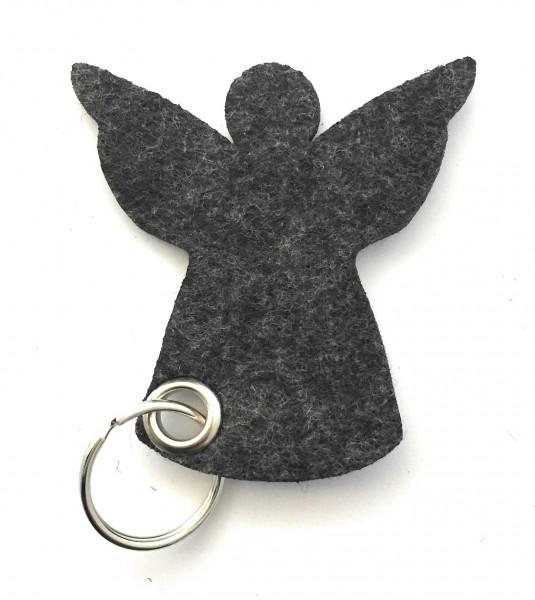 Engel / Weihnachten - Filz-Schlüsselanhänger - Farbe: schwarz meliert - optional mit Gravur / Aufdru