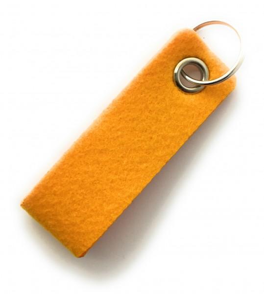 Schlaufe mini - Filz-Schlüsselanhänger - Farbe: gelb - optional mit Gravur / Aufdruck
