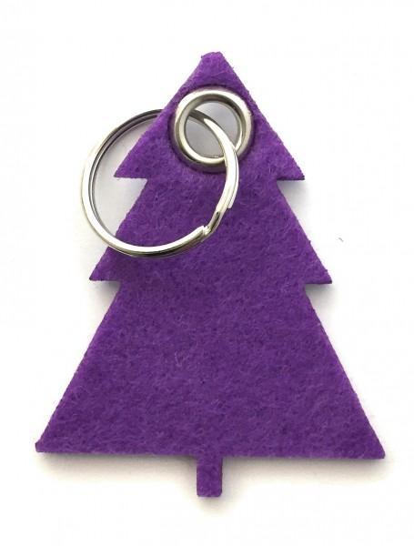 Tannenbaum / Nadelbaum groß - Filz-Schlüsselanhänger - Farbe: lila / flieder - optional mit Gravur /