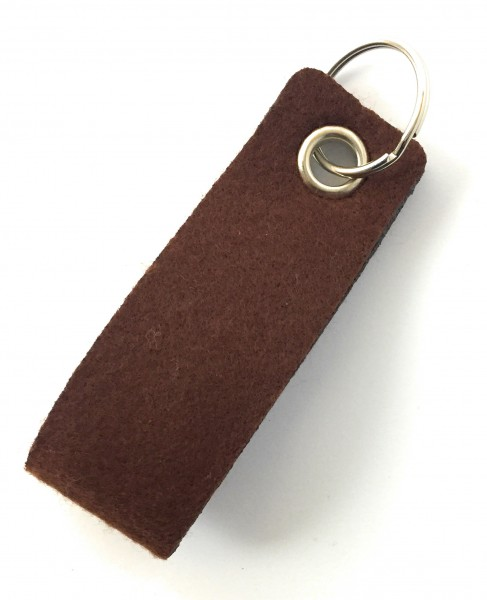 Schlaufe mini - Filz-Schlüsselanhänger - Farbe: braun - optional mit Gravur / Aufdruck