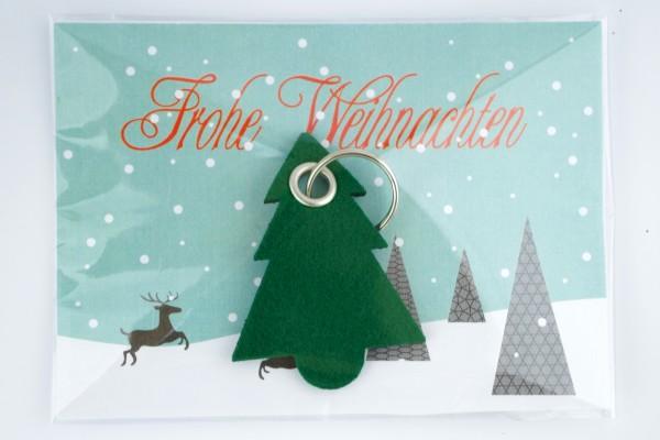 Weihnachtsbaum maxi - Filz Schlüsselanhänger. Tannenbaum mit Schlüsselring