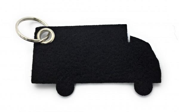 LKW - Filz-Schlüsselanhänger - Farbe: schwarz - optional mit Gravur / Aufdruck