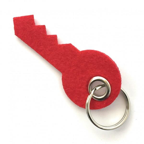 Schlüssel - Filz-Schlüsselanhänger - Farbe: rot - optional mit Gravur / Aufdruck