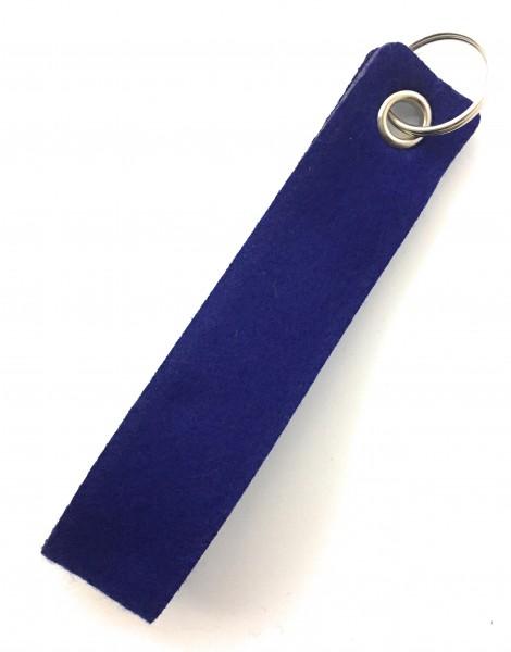 Schlaufe maxi - Filz-Schlüsselanhänger - Farbe: royalblau - optional mit Gravur / Aufdruck