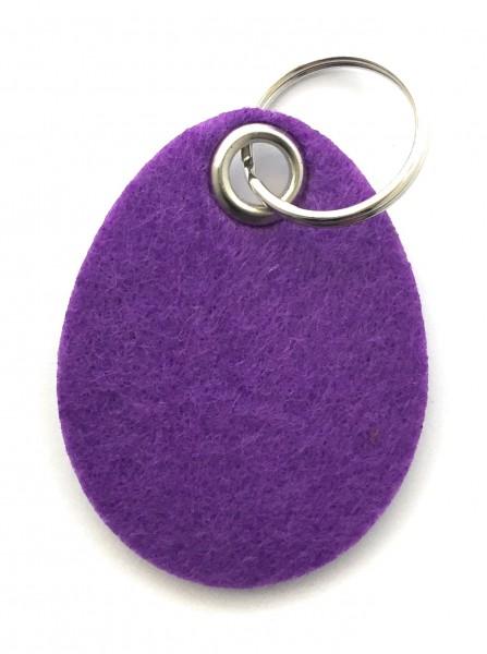 Ei / Ostern - Filz-Schlüsselanhänger - Farbe: lila / flieder - optional mit Gravur / Aufdruck