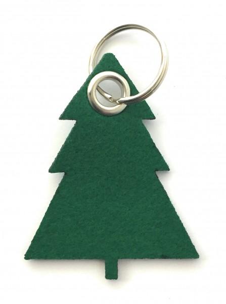 Tannenbaum / Nadelbaum groß - Filz-Schlüsselanhänger - Farbe: waldgrün - optional mit Gravur / Aufdr