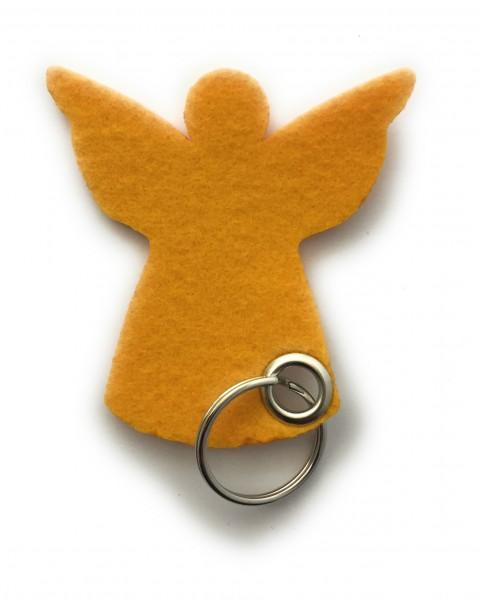 Engel / Weihnachten - Filz-Schlüsselanhänger - Farbe: gelb - optional mit Gravur / Aufdruck