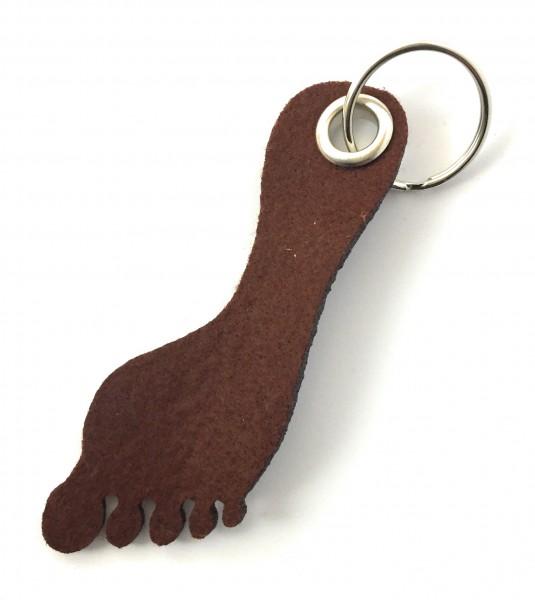 Fuß / Sohle - Filz-Schlüsselanhänger - Farbe: braun - optional mit Gravur / Aufdruck