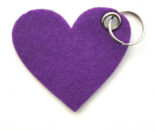 Herz / Liebe /groß - Filz-Schlüsselanhänger - Farbe: lila / flieder - optional mit Gravur / Aufdruck