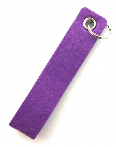 Schlaufe maxi - Filz-Schlüsselanhänger - Farbe: lila / flieder - optional mit Gravur / Aufdruck