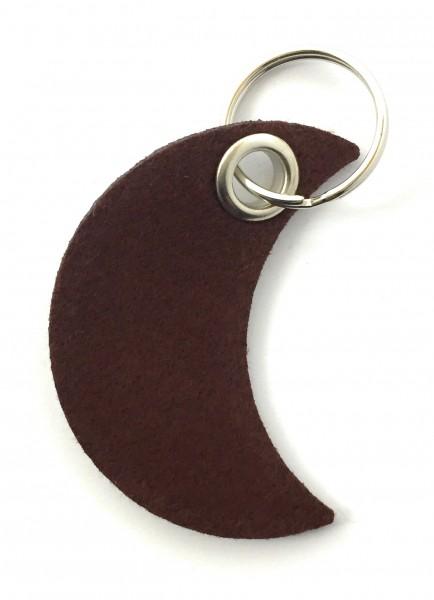Mond - Filz-Schlüsselanhänger - Farbe: braun - optional mit Gravur / Aufdruck