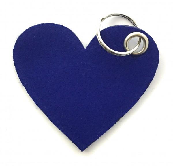 Herz / Liebe /groß - Filz-Schlüsselanhänger - Farbe: royalblau - optional mit Gravur / Aufdruck