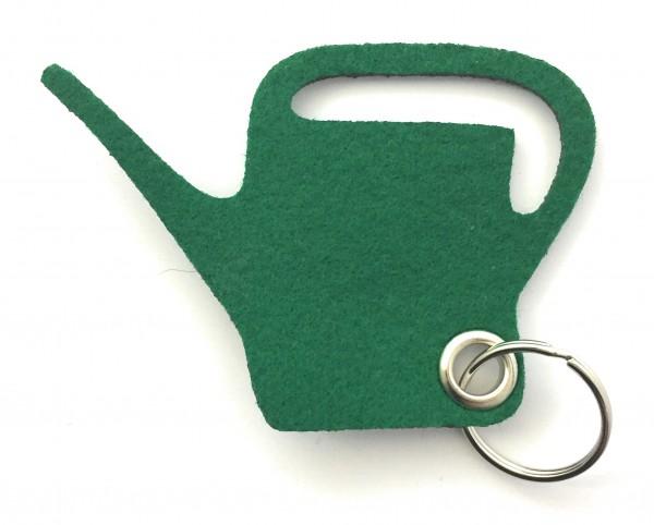 Giess-Kanne - Filz-Schlüsselanhänger - Farbe: waldgrün - optional mit Gravur / Aufdruck