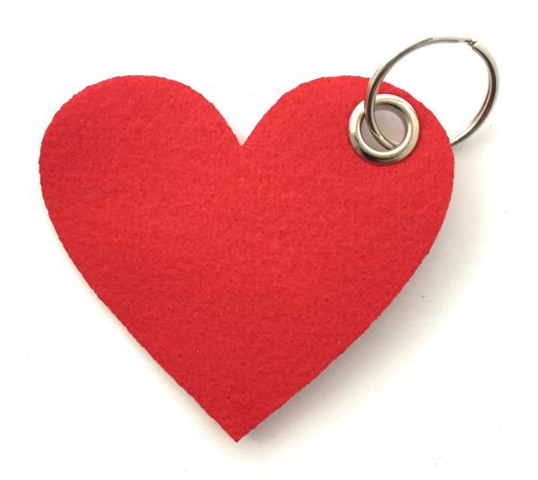 Herz / Liebe /groß - Filz-Schlüsselanhänger - Farbe: rot - optional mit Gravur / Aufdruck